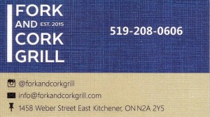 Fork and Cork Grill 519-208-0606